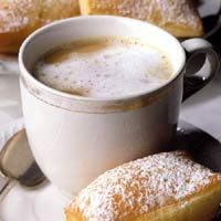 cafe au lait recipe - just add beignets and you have the breakfast of champions, LOL