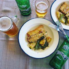 Μπακαλιάρος στο φούρνο με μπύρα Royal Ionian Pilsner και πιπεριές