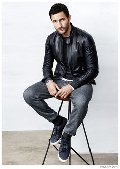 Noah Mills Sports Casual Styles from Vince Fall/Winter 2014 Collection image Noah Mills Casual Styles Vince Fall Winter 2014 004