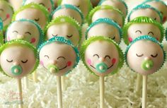 Baby Boy Cake Pops www.messyjessiestreats.com