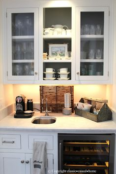Savvy Southern Style: My Favorite Room....Classic Casual Home great idea for a beverage center
