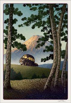 Tonari no Totoro Hayao Miyazaki, Art Studio Ghibli, Strange Beasts, Howls Moving Castle, Animation Reference, Geek Art, Fantasy Landscape, Watercolor Landscape, My Neighbor Totoro