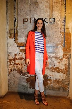 Vittoria Discacciati during PINKO by Arzu Sabanci event in Rome for the launch of Spring Summer 2016 collection