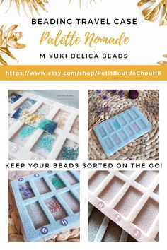 You want to keep your beads sorted while you are travelling or simply on the go? This nomade beading case is the perfect tool that will fit in your purse and can keep your beads sorted and tidy for your on-going project.