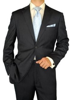 Modern Signature Collection Italian Fit Mens Suit Italian Merino Wool 140s Two Button Jacket Plus Flat Front Pants Modern Business Suit Charcoal Herringbone. MODERN ITALIAN FIT, TOP OF THE LINE SUIT This suit is exclusively hand tailored by the most excellent craftsmen. Super 140's Extra Fine MERINO WOOL Fabric. Get this Pure all Merino Wool suit today with Front canvassed jacket. None of the Suits or Jackets are fused. The pants have a 3 Button Closure (like Zanella). Super 140's Extra Fine…