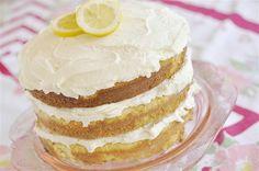 Lemon Butter Cream Cake  @yourhomebasedmom.com  #cake,#lemon,#recipes
