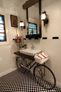 The Hipster Bathroom, I really kinda love this for a downstairs powder room  download room hints.com/app