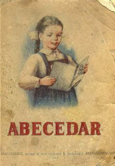 My oldest cousin reading and writting school book, Abecedar, 1953. abecedar-10