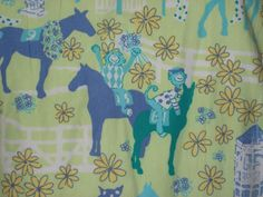 Lilly Pulitzer Dress Size 2 Green Horses Races Shift Flowers Summer Tank Fringe #LillyPulitzer #Shift #Casual