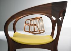 Ross Lovegrove has designed his first wooden chair to mark Bernhardt Design's 125th anniversary.