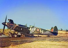 Supermarine Spitfire Mk.XVI, AU-H of 421 Squadron at Petit-Brogel, Belguim, 1945