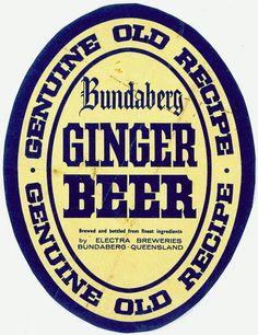 Bundaberg Ginger Beer label I Started A Joke, Beer Poster, Beer Art, Old Recipes, Ginger Beer, Beer Brewing, Vintage Labels, Brewery, Beer Labels