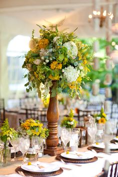Photography by Kim Seidl, hydrangea, zinnia, dahlias, roses, yarrow, seeded euc, snapdragons, dahlias. ans spray roses.