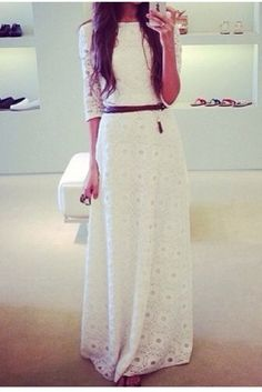 crochet lace maxi dress - would team this with a floppy hat and some leather bracelets - yum!