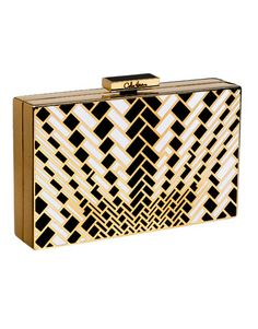 graphic cole haan clutch. very art deco-y (correct me if i'm wrong, architects/designers/etc.). $1500 usd.