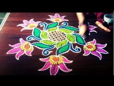Simple peacock rangoli design with 7 dots made easy to draw for everyone Simple Rangoli With Dots, Simple Flower Rangoli, Rangoli Designs Flower, Rangoli Kolam Designs, Rangoli Patterns, Rangoli Designs With Dots, Kolam Rangoli, Beautiful Rangoli Designs, Simple Flowers