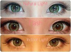 I. Fairy Luna Green is such a cute sea green color and sure to make you look stunning. These big eye circle lenses have three green shades in it and are very detailed. The three tones of green blend together. As usual, like other I Fairy Circle Lenses, this is also a very comfortable pair.    Also KAwai eyelashes are so natural and make a perfect combination with I fairy big eye circle lenses.    Review here