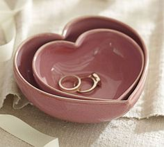 Adorable heart shaped nesting bowls!
