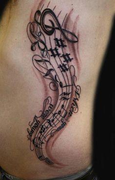 20 Fresh Designs of Music Tattoos