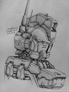 GUNDAM GUY: Awesome Gundam Sketches by VickiDrawing [Updated 6/20/15]