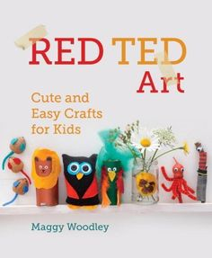 Interview with Maggy Woodley of Red Ted Art about crafting with her kids, her new book, and how crafts can be open-ended, too. Plus a giveaway!