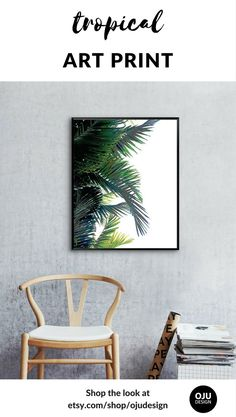 Printable palm leaf wall art to help turn your house into a home. Instant download on-trend modern art and minimalist art. Simple to download and easy to use. This artwork comes ready-to-print in the 25+ most popular sizes. Visit our shop to see this print and our full range of tropical art etsy.com/shop/ojudesign