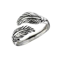 Silver Elements Sterling Silver Feather Toe Ring
