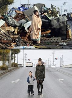 Now and then in Japan