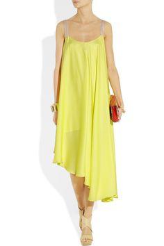 Elizabeth and James asymmetric satin trapeze dress.This deserves a wear for summer. love the colour! <3