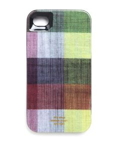 Classic Jack Spade patterns in hard-shell protection for iPhone 4.