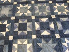 I finished the Denim Quilt today.  To see the start of the quilt click here and here Since It was a rather well used quilt top and less than perfect piecing the edges are a bit wobbly and less than…