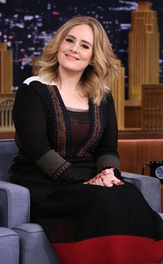 "Adele from The Big Picture: Today's Hot Pics The ""When We Were Young"" songstress looked stunning as she joined Jimmy Fallon on The Tonight Show couch."