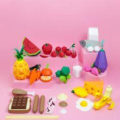 Origami fruit