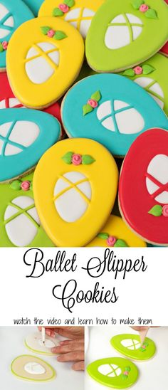 Watch this How to Make Ballet Slipper Cookies Video and Make Your Own Cute Cookies | The Bearfoot Baker