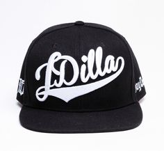 J Dilla Snapback with White on Black. His impact on the world is undeniable. Custom direct J Dilla cursive embroidery on the front of the cap. Black Snapback, Snapback Hats, Fela Kuti, Hip Hop Producers, J Dilla, Best Hip Hop, The Giant Peach, Casual Outfits, Men Casual