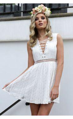 Athena Lace Dress White - Dresses - Clothes
