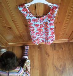 Kızıma Önlük Elbise diktim