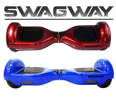 Swagway in Red and blue (pictured). We also have White, Green, Black, and for National Breast Cancer Awareness month, PINK! Limited Edition Gold coming soon! Get yours at https://swagway.com/