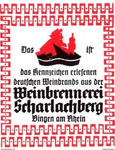 Original-Werbung/ Anzeige 1942 - WEINBRENNEREI SCHARLACHBERG - ca. 50 x 60 mm