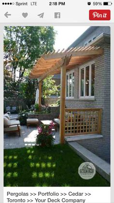 Small porch pergola!!