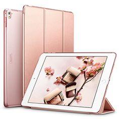Coque iPad Pro 9.7, ESR Slim-Fit Smart Case Coque Housse Etui pour Apple iPad Pro 9.7 Pouces (Version 2016) Modèle de Support léger Ultra Slim avec Smart Cover Auto Réveil / Veille (or rose) #Coque #iPad #Slim #Smart #Case #Housse #Etui #pour #Apple #Pouces #(Version #Modèle #Support #léger #Ultra #avec #Cover #Auto #Réveil #Veille #rose)