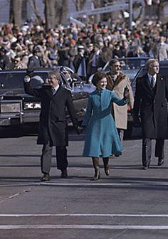 1977 The Carters' inaugural parade.