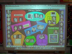 center groups  {I don't have the interactive board, but could do on a regular old boring bulletin board}   :)