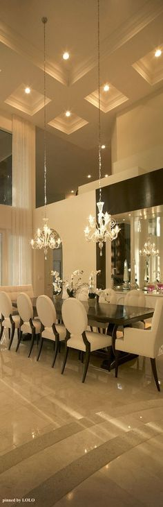 Pure Drama in this Luxury dining room.. Totally divine. A true luxury