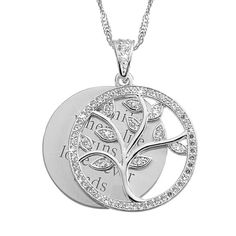 A mother is the caretaker of their family tree. Help her tend to those deep roots with our sparkling family tree necklace. Part of CZ Swing Collection, this necklace keeps her little sprouts close to her heart, especially when it's personalized just for her. Encrusted with CZ stones, she'll wear it every day. When you engrave each family member's name on the polished swing charm. https://www.thingsremembered.com/crystal-family-tree-necklace/product/771986?fcref=pinterest