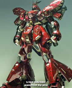 "Painted Build: Neo Grade 1/60 MSN-04 Sazabi ""Marble Paint Style"" - Gundam Kits Collection News and Reviews"