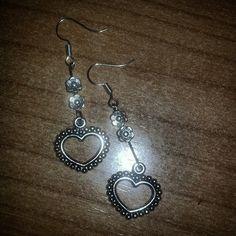 Pendientes.  #diy #earrings #heart