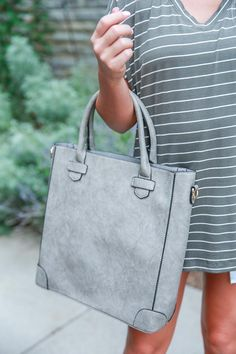 Fashion Week's Finest Tote in Grey • Impressions Online Boutique