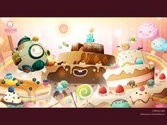 Chilling Cake by Warittanun Chatchutikitpinyo, via Behance