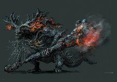 Dark Souls 3 Concept Art - Stray Demon Concept Art